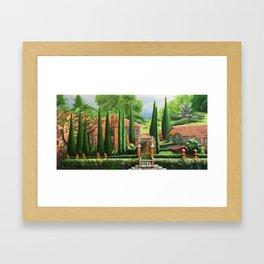 Villa of Lago d' Como Framed Art Print