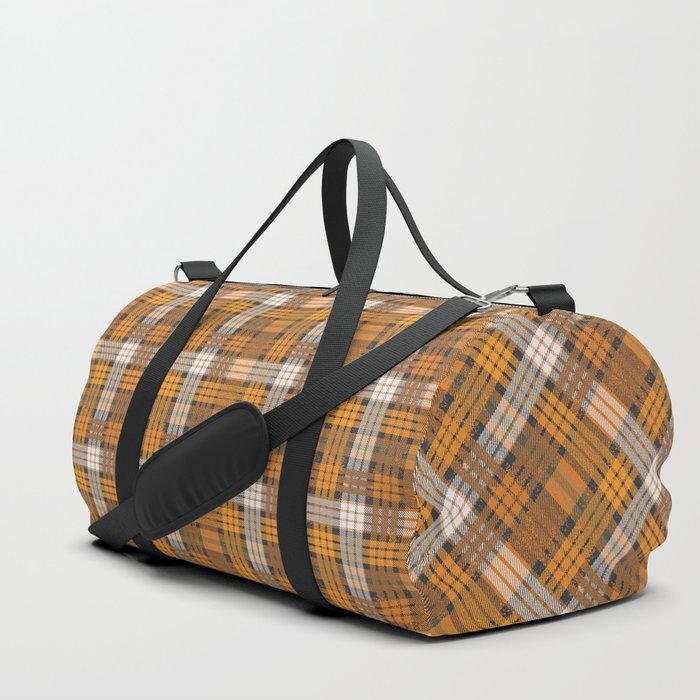 yellow basket weave plaid Duffle Bag