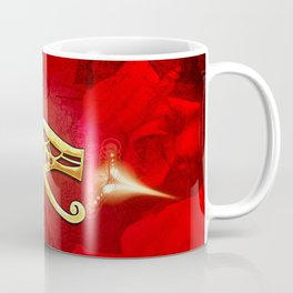 The all seeing eye, golden colors Coffee Mug