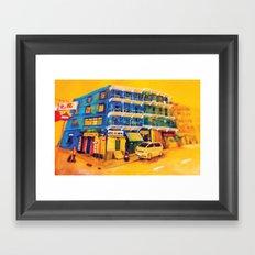 blue house (hong kong) Framed Art Print