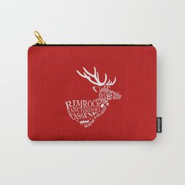 Rim Rock Ranch Stag in Red Carry-All Pouch