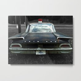 Ford Failane Cop Car Rear Metal Print