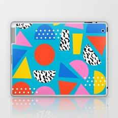 Airhead - memphis retro throwback minimal geometric colorful pattern 80s style 1980's Laptop & iPad Skin