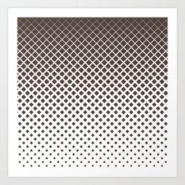 Brown diamonds with white background geometric pattern Art Print