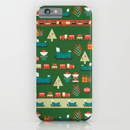 Santa's Christmas laboratory iPhone Case