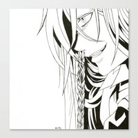kuroshitsuji Canvas Prints featuring Kuroshitsuji Undertaker by Reira Hoshikuzu