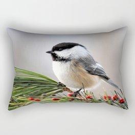 Pine Chickadee Rectangular Pillow