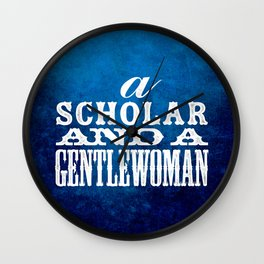 A Scholar and a Gentlewoman Wall Clock
