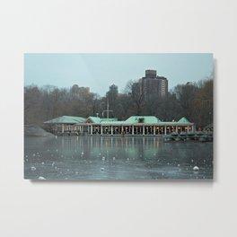 Frozen Boathouse Metal Print
