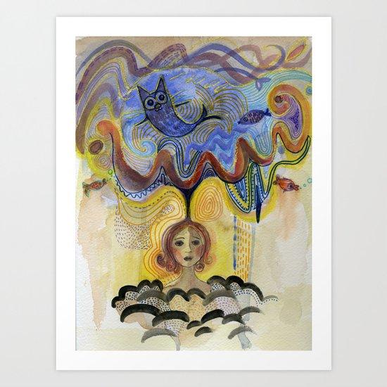 cloud of imagination Art Print