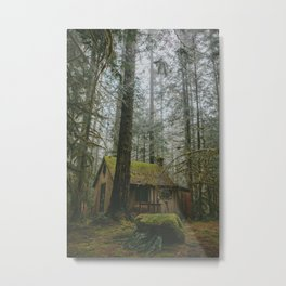 Cabin in the woods Metal Print