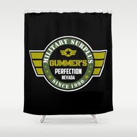 military Shower Curtains featuring Gummer's military surplus by Buby87