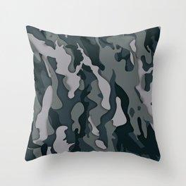 Dark Camo Throw Pillow