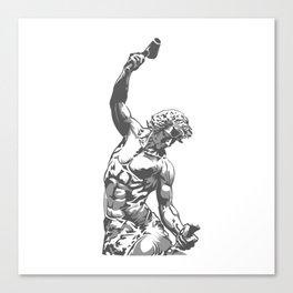 Self-Made Men statue Canvas Print