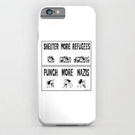 Shelter More Refugees iPhone Case