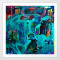 cows Art Prints featuring Cows by Silke Powers