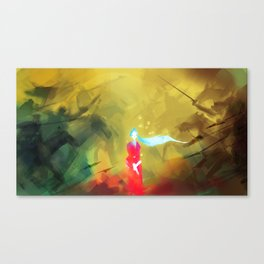 Battle Canvas Print