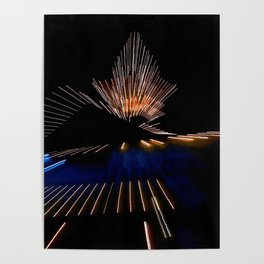 Abstract Dramatic Night Lights Poster