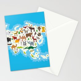 Eurasia animal bison bat fox wolf elk horse cock camel partridge fur seal Walrus goats Polar bear Stationery Cards