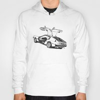 delorean Hoodies featuring DELOREAN by carolin walch