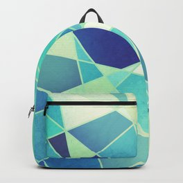 STAINED GLASS WINDOW BLUE Backpack