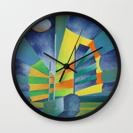 Junk By The Light Of The Silvery Moon Wall Clock