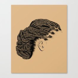 Crown: Braided Lower Messy Bun Canvas Print