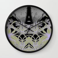 geode Wall Clocks featuring Geode 7 by michiko_design