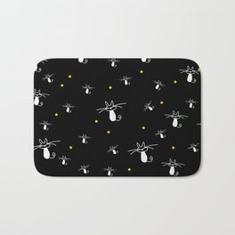 Cats in the starry night Bath Mat