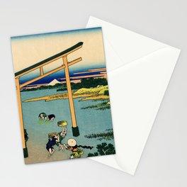 Katsushika Hokusai - 36 Views of Mount Fuji (1832) - 23: Bay of Noboto Stationery Cards