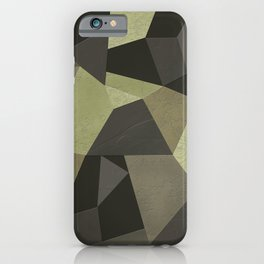 Black shabby green patches of the skin . iPhone Case
