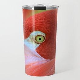 Watching Me Watching You Flamingo by Reay of Light Travel Mug