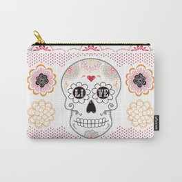 Dia de los Muertos Papel Picado Sugar Skull Carry-All Pouch