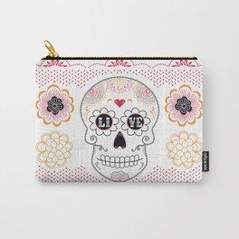 Dia de los Muertos Papel Picado Sugar Skull Carry-All Pouch