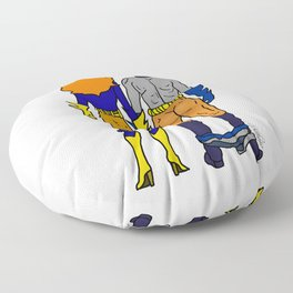 Superhero Butts Love 4 - Bats Floor Pillow