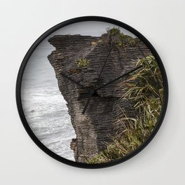 Pancake rocks New Zealand Wall Clock