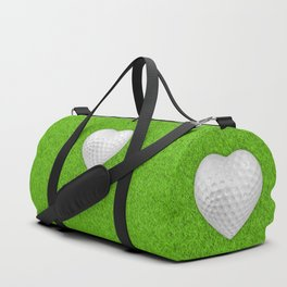Golf ball heart / 3D render of heart shaped golf ball Duffle Bag