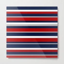 Flag Stripes Metal Print