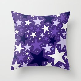 Star Light Purple Throw Pillow