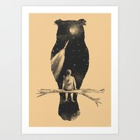 silhouette Art Prints featuring I Have a Dream by Norman Duenas
