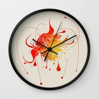 vector Wall Clocks featuring Vector by Bill Labus