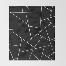 Black White Geometric Glam #2 #geo #decor #art #society6 Throw Blanket