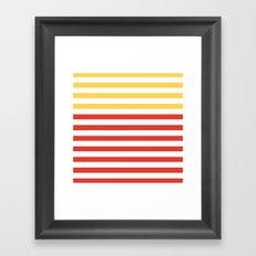POPPY STRIPES Framed Art Print