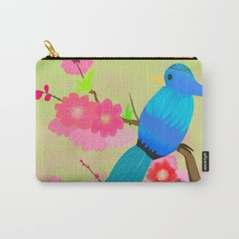 Peach Blossoms Paradise (Green Background) Carry-All Pouch