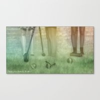 heathers Canvas Prints featuring Heathers by Alexia Rose