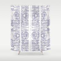 indigo Shower Curtains featuring Indigo by Zeryndipity