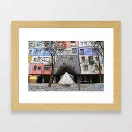 Hundertwasserhaus Framed Art Print