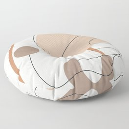Abstract Line Movement III Floor Pillow