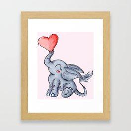 Heart for Baby (Girl) Framed Art Print