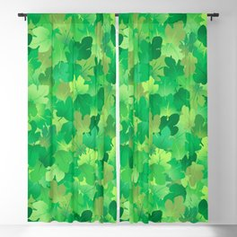 Calming Fig Leaves Blackout Curtain